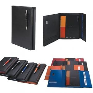 A4 Manhattan Notebook with Pen Closure_All Colours