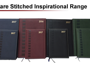 square stitched inspirational diaries