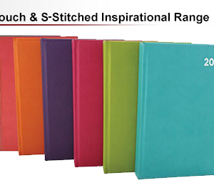 soft touch s-stitched inspirational diaries
